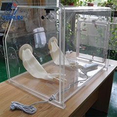 Lab Bench-top Acrylic Transparent Glovebox With Optional Box Sizes