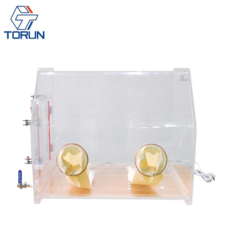 Lab Bench-top Acrylic Transparent Glovebox With Optional Box Sizes  2