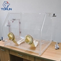 Lab Bench-top Acrylic Transparent Glovebox With Optional Box Sizes  3
