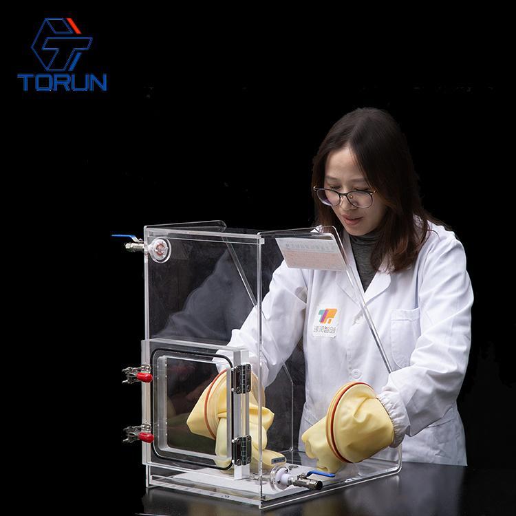 300*400*500 Inert Gas Operation Box,Lab Research Transparent Mini Acrylic Glove  5