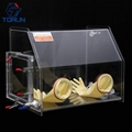 lab use acrylic glove box fillied with inert gas,PMMA glove box with vacuum tran 2