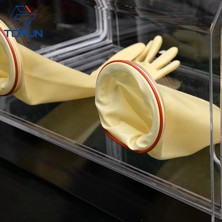 lab use acrylic glove box fillied with inert gas,PMMA glove box with vacuum tran 3