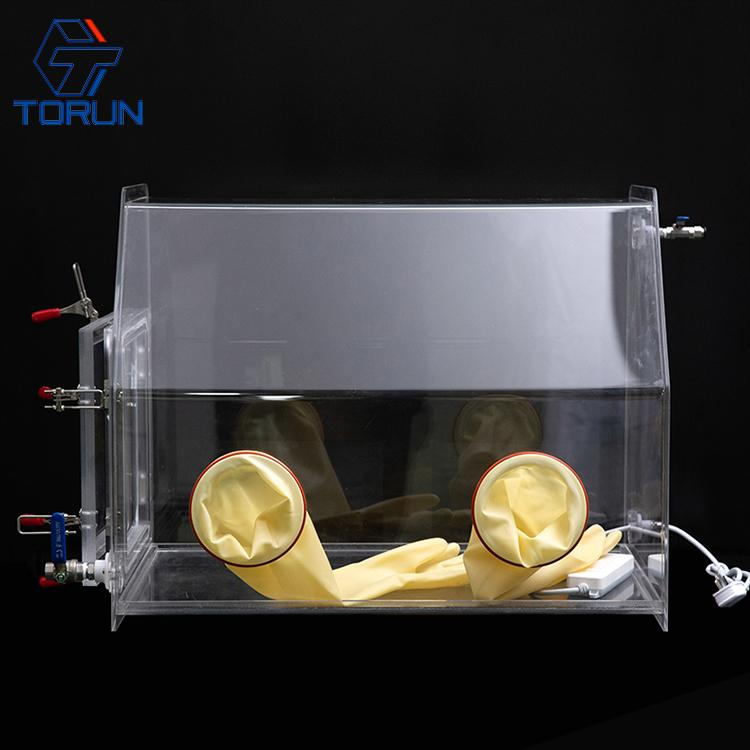 lab use acrylic glove box fillied with inert gas,PMMA glove box with vacuum tran 4