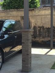 酒店文化石厂家背景墙包柱石批发工厂日产600平方