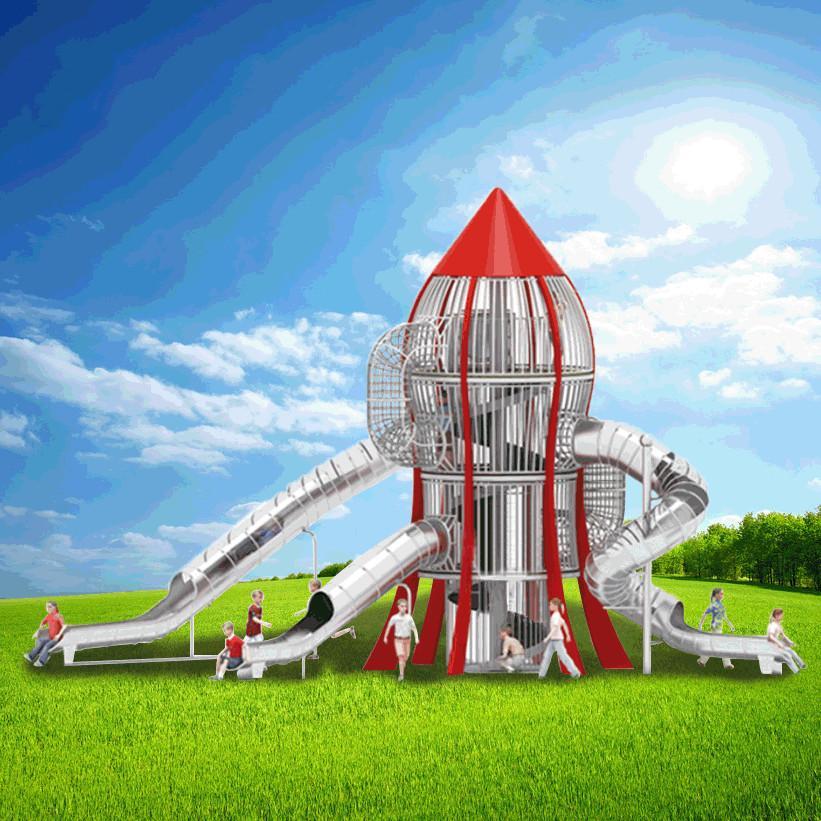 立建遊樂非標定製大型木質遊樂設備戶外公園儿童滑梯幼儿園攀爬 3