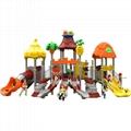 立建遊樂非標定製大型木質遊樂設備戶外公園儿童滑梯幼儿園攀爬 4