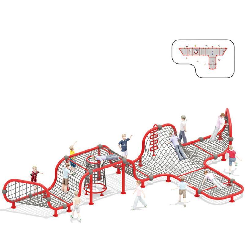 立建遊樂廠家定製不鏽鋼大型遊樂設備儿童啟蒙攀爬滑梯拼裝組合 1