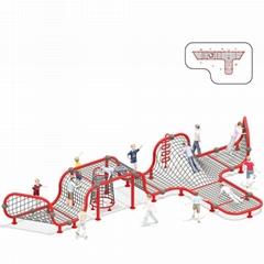 立建遊樂廠家定製不鏽鋼大型遊樂設備儿童啟蒙攀爬滑梯拼裝組合