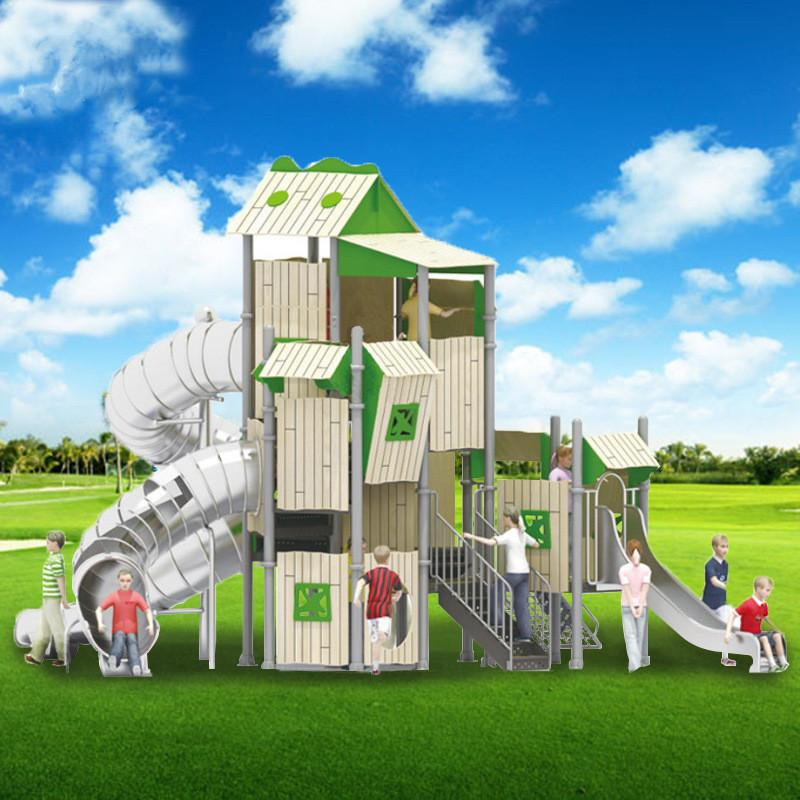 立建遊樂廠家定製不鏽鋼大型遊樂設備儿童啟蒙攀爬滑梯拼裝組合 3