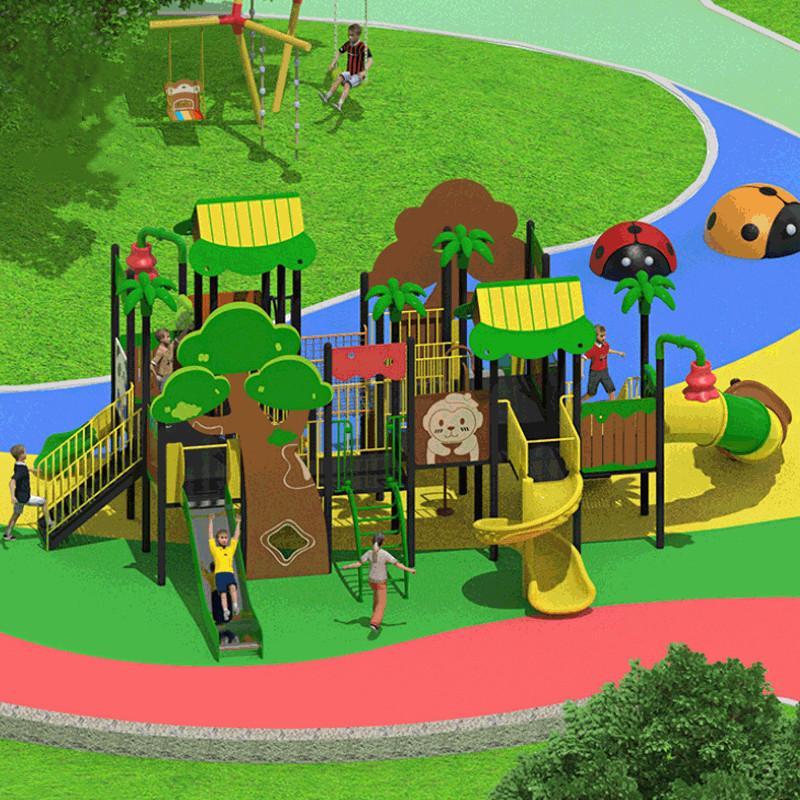 立建遊樂非標定製戶外儿童遊樂設備公園景區不鏽鋼滑滑梯攀爬 3