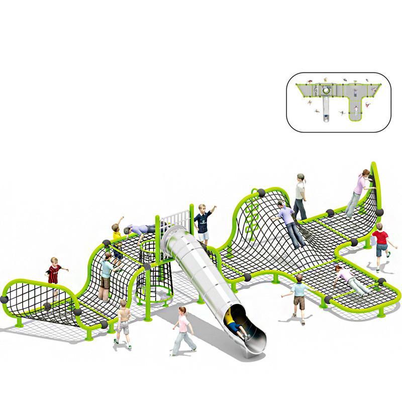 立建遊樂非標定製戶外儿童遊樂設備公園景區不鏽鋼滑滑梯攀爬 5