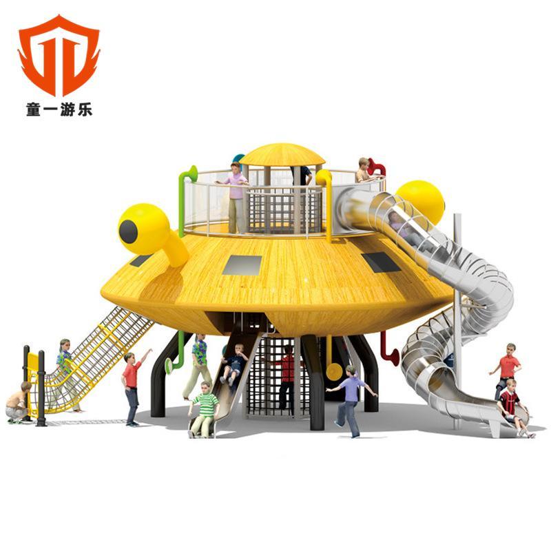 溫州童一科技景區小型不鏽鋼滑梯 室外組合遊樂設備鑽洞爬洞 5