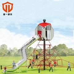 溫州童一科技小區幼儿園遊樂設備 戶外不鏽鋼滑梯儿童滑滑梯