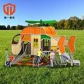 溫州童一科技小區遊樂園遊樂設備 室外幼儿園不鏽鋼組合滑梯 2