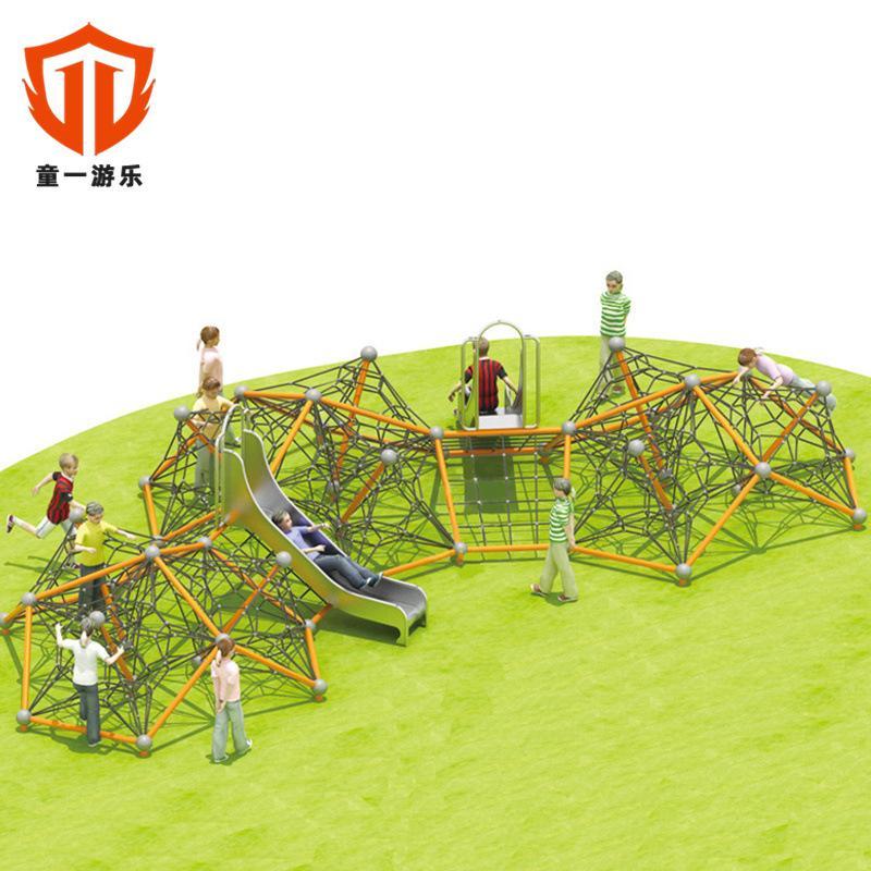 溫州童一科技非標定製大型滑梯 儿童室外爬網拓展訓練攀爬網 3