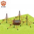 溫州童一科技非標定製大型滑梯 儿童室外爬網拓展訓練攀爬網 4
