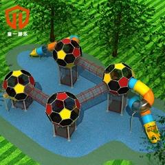 溫州童一科技幼儿園商場儿童遊藝設備塑料滑梯幼儿園滑滑梯
