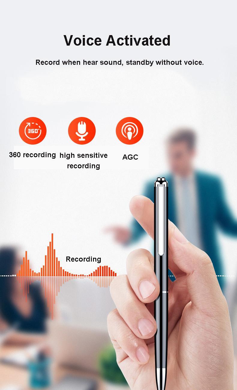 Digital Voice Recorder Pen  Audio Recording   Rechargeable   Sound Dictaphone