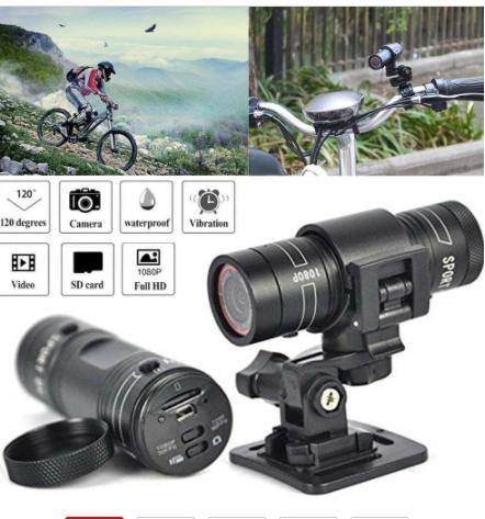 HD 1080P bicycle motorcycle helmet Sport camera  2