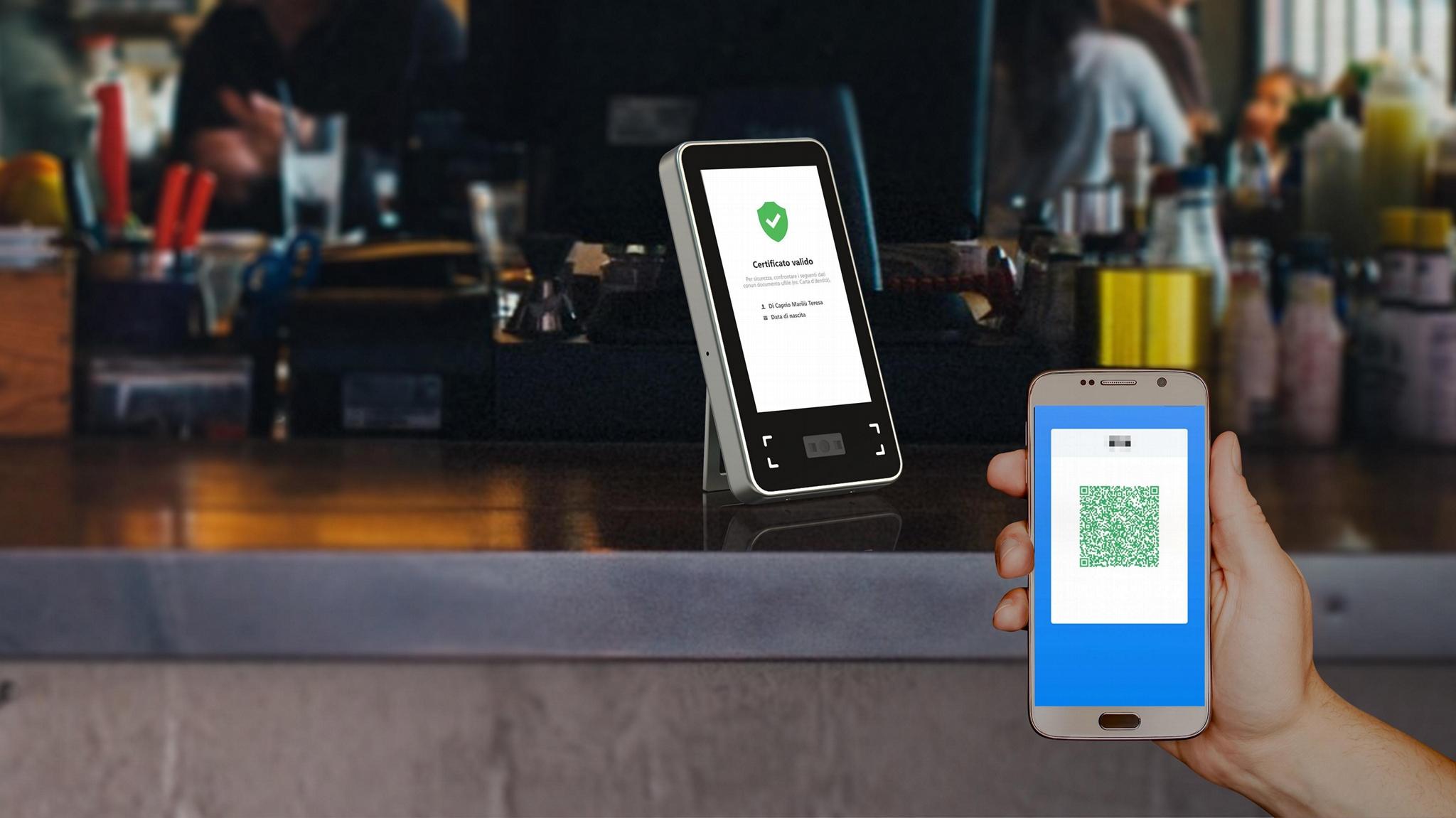 2.8inches EU Green Pass Scanner Access WIFI 2D code scanner 2