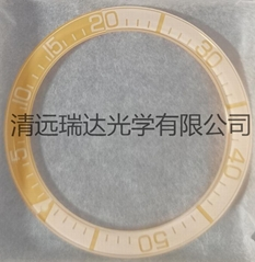 直徑39.2*31.2藍寶石玻璃平片單卜手錶圈口絲印電鍍夜光圓環卡圈