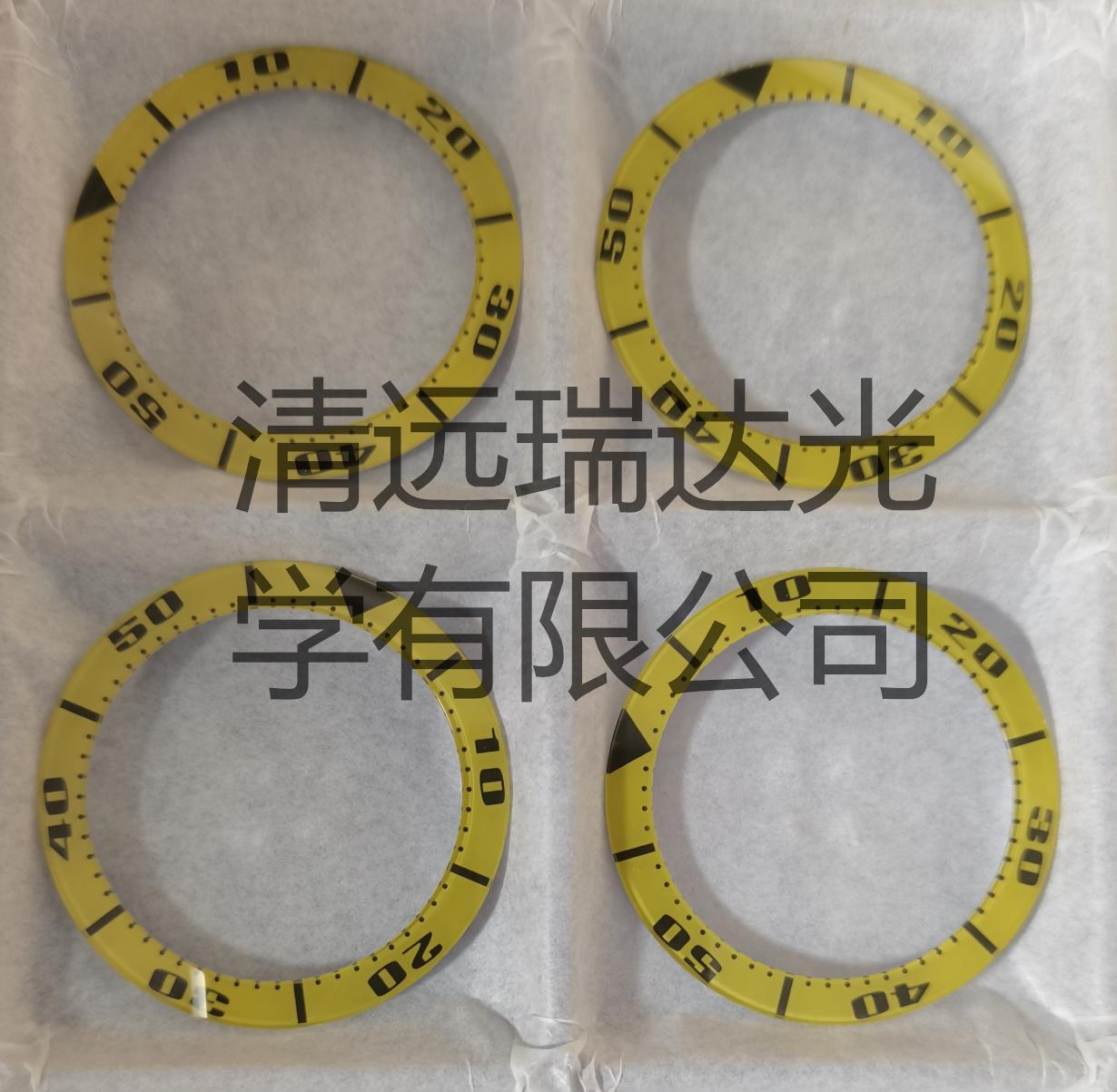 蓝宝石玻璃加工玻璃表圈圈口丝印电镀手表刻度 1