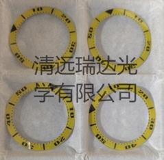 藍寶石玻璃加工玻璃表圈圈口絲印電鍍手錶刻度