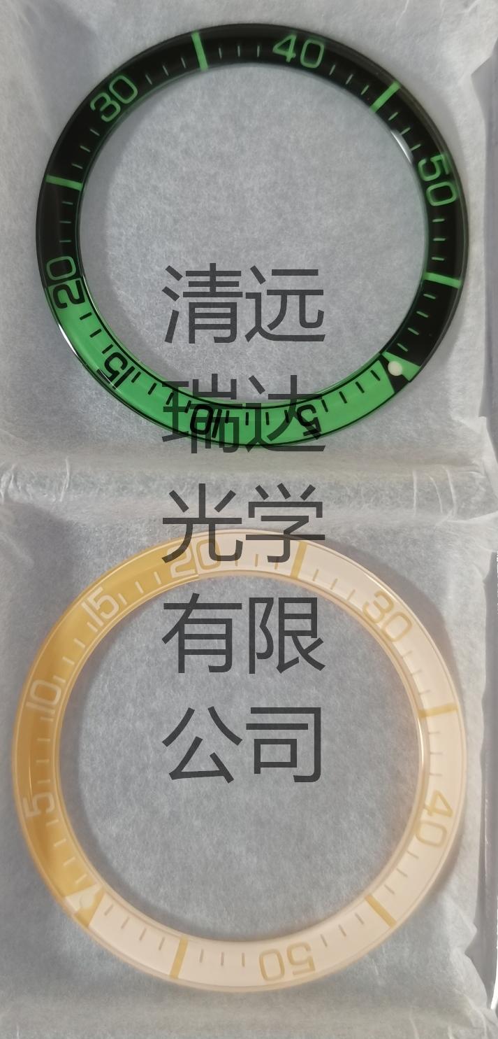 蓝宝石玻璃加工玻璃表圈圈口丝印电镀手表刻度 5