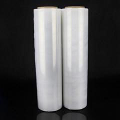 厂家批发45/50cm拉伸膜打包围膜 透明塑料工业薄膜 足重PE缠绕膜