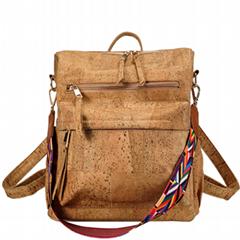天然橡樹樹皮製作的時尚雙肩背包