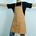 Cork Fabric Apron Made of Natural Cork  Vegan Fabric