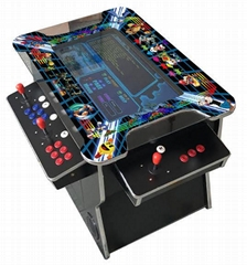4  Player Cocktail Arcade Machine with Tilt Up Lid and 3500 Games