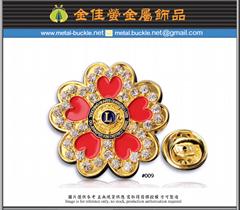 狮子会金属徽章