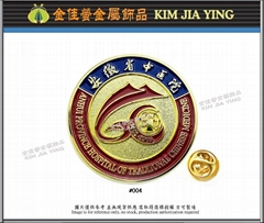 Customized enamel metal badge