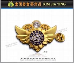Society/Business/Customized Color Enamel Rhinestone Metal Badge