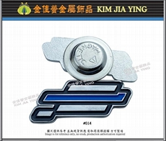 Customized color enamel metal magnetic badge
