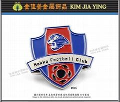 Club customized color enamel metal badge