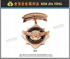 Customized colored enamel metal medal