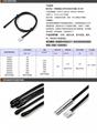 新NTC热敏温度传感器5K3470 10K39501%铁氟龙耐高温线防水探头 1