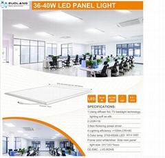 佐朗600xx60036W 超博面板灯暖白光3000K3600流明