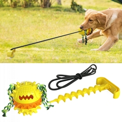 組合拉繩球 拴狗地樁 寵物玩具