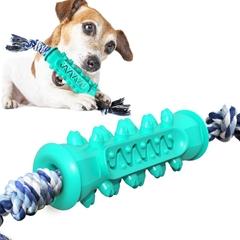 带狗咬绳锯齿磨牙棒 小狗磨牙棒 小狗水上玩具