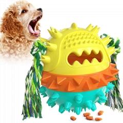 圓形漏食球 發聲玩具 水上寵物玩具