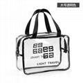 Large capacity transparent PVC cosmetic bag