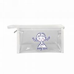透明筆袋 透明化妝包 旅行防水洗漱包