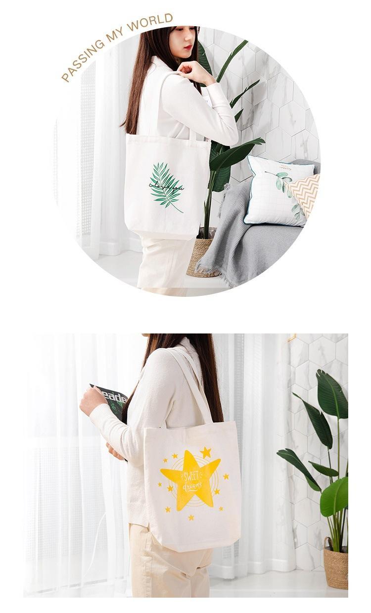 Shopping bags Canvas bag Printed shoulder bag 3