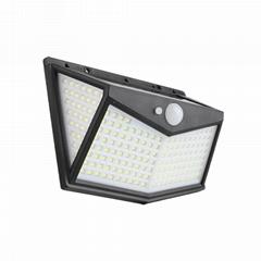 太陽能燈戶外庭院燈人體感應壁燈防水家用照明路燈牆壁燈