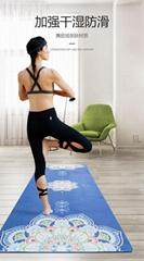 麂皮絨瑜珈墊 印花tpe防滑瑜伽墊 室內健身墊