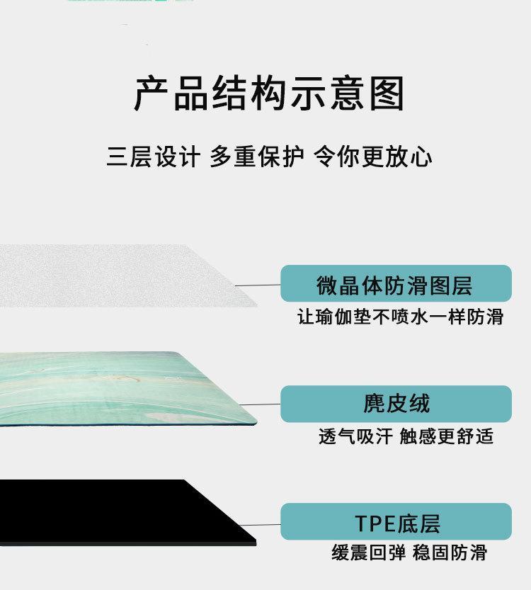 Yoga mat Non-slip mat TPE suede yoga mat 7