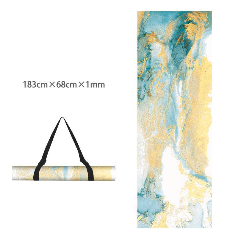 Printed Yoga Towel Non Slip Blanket Absorb Mat Cover Towel Pilates Fitness 1